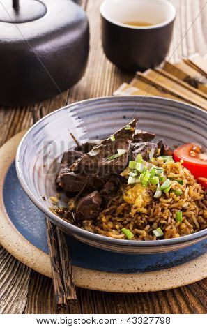 fried rice with liver