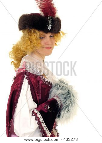 Woman In Polish Clothes Of 17 Century