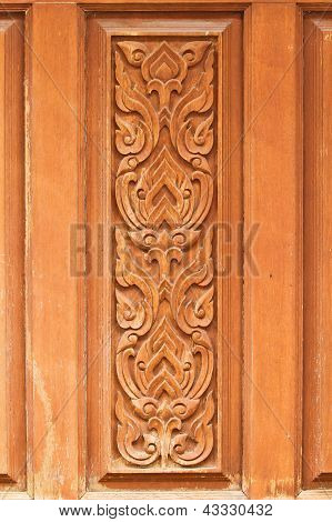 Wooden Carved Pattern