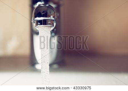 working water tap