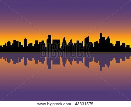 City Skyline_Sunset
