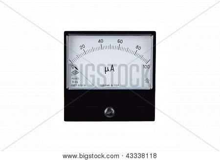 Vintage antique amperemeter