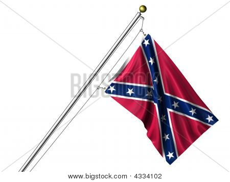 Isolated Confederate Flag