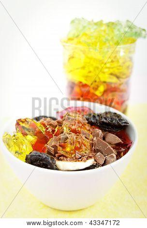 fruit jelly dessert
