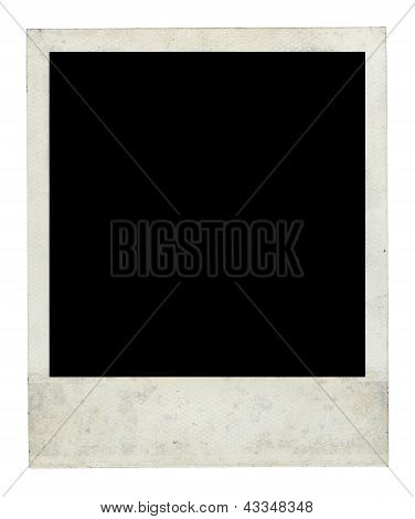 Old Dirty Photo Frame Front Side With Clipping Path