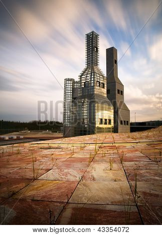 Santiago De Composttela, Spain - November 13: Hejduk Towers On November 13, 2011 In Santiago De Comp
