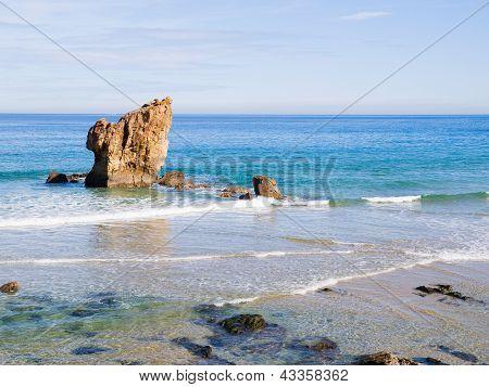 Aguilar praia das Astúrias, Espanha.
