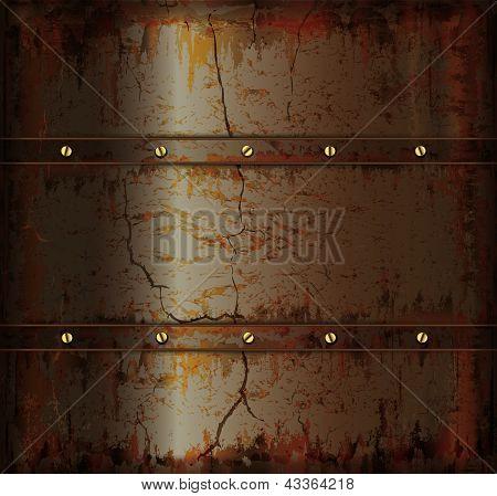 Background Metal Rusty Cuprum