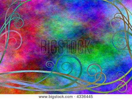 Abstract With Florishes
