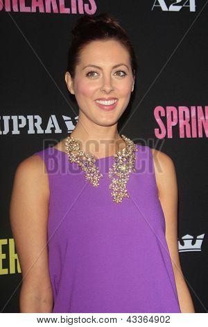 LOS ANGELES - MAR 14:  Eva Amurri Martino arrives at the 'Spring Breakers