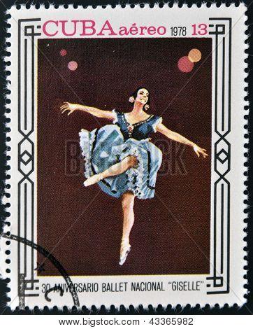 CUBA - CIRCA 1978: A stamp printed in Cuba shows ballet