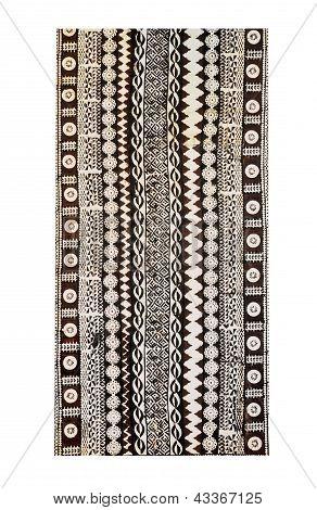 Fiji Traditional Woven Tapa Cloth