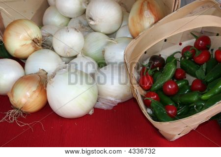 Onions And Hot Peppers