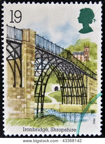 UNITED KINGDOM - CIRCA 1989: A stamp printed in Great Britain shows Ironbridge, Shropshire