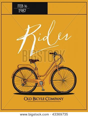 retro vintage bicycle with background