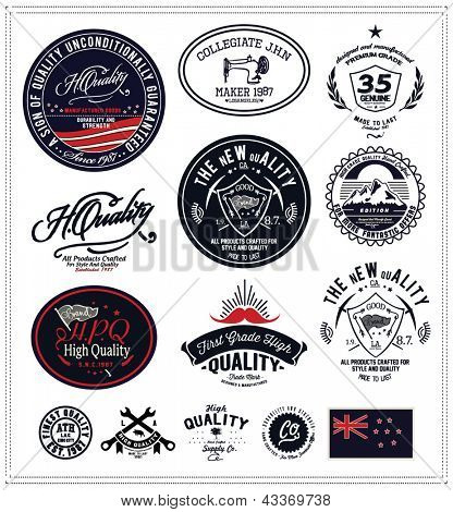 vintage retro Collection of Premium and High Quality labels