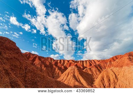 Red Desert And Blue Sky