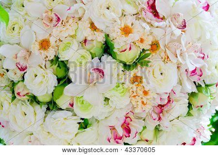 Silk Flowers Background