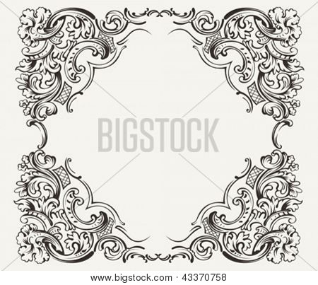 Old Vintage High Ornate Frame
