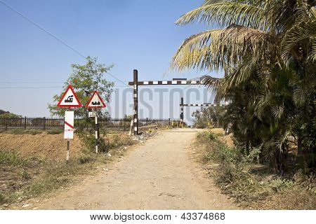 Hinterland Railway Open Barrier Crossing