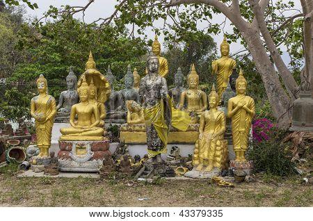 Buddha statues at Khao Takiab Hua Hin Thailand