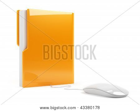 Computer Folder With Mouse