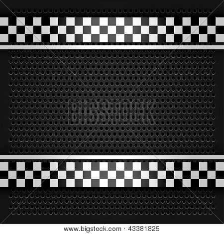 Metallic perforated sheet gray