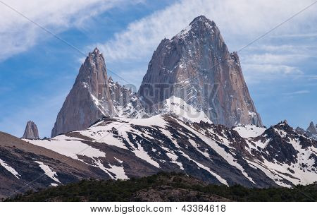 Mount Fitz Roy On The Trekking Tour From  El Chalten Silhouette