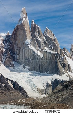 Cerro Torre At Perfect Weather No Clouds Vertical