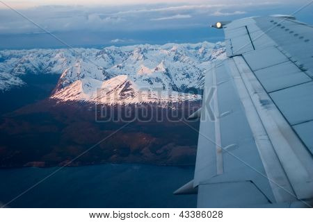 In The Airplane Close To Ushuaia