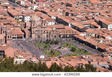 Cusco Plaza With Church