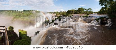 Iguacu Waterfall With Rainbow