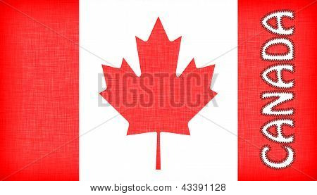 Flag Of Canada With Letters