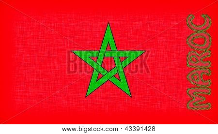 Flag Of Morocco With Letters