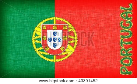Flag Of Portugal With Letters