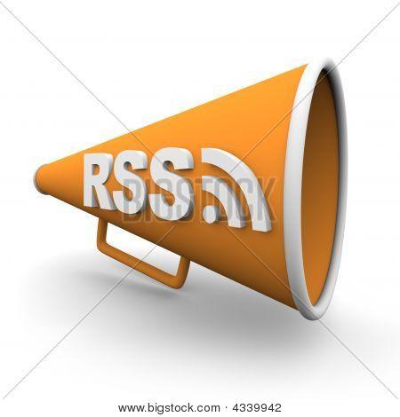 Rss Logo On Bullhorn