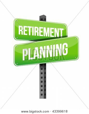 Retirement Planning Road Sign