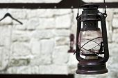 stock photo of kerosene lamp  - Beautiful background  - JPG