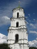 image of deacon  - Beautiful church on a background of the blue sky in Kozeletz town - JPG