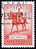 Postage Stamp Australia 1935 King George V On His Charger Anzac