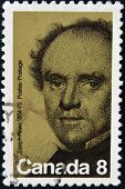 stamp printed in Canada shows Joseph Howe