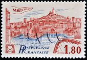 A stamp printed in France shows Marseilles