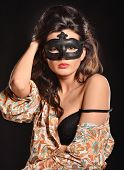 pic of nacked  - woman in mask - JPG