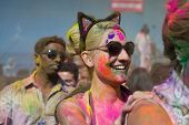 People celebrate Holi Festival of Colors