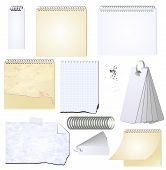 Vector Grunge Notepad Memopad Scrap Book Isolated