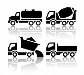 stock photo of dumper  - Set of transport icons  - JPG