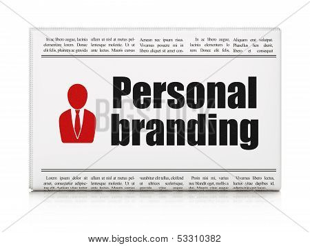 Advertising news concept: newspaper with Personal Branding