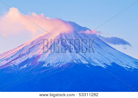 Mt. Fuji during sunrise