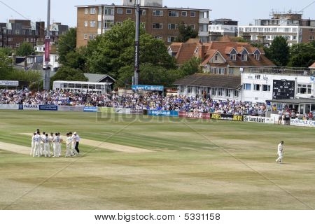 Sussex Celebrate Hughes' Wicket