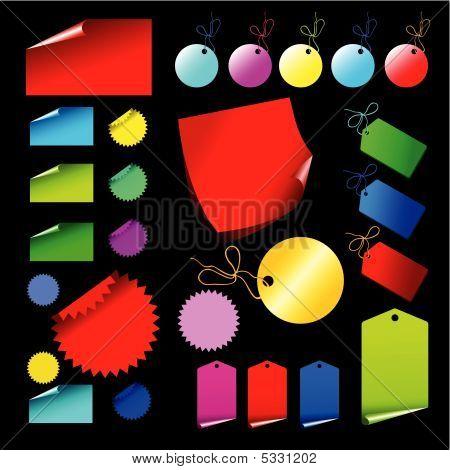 Tags Multi-coloured